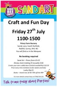 Craft and Fun Day at Priory Farm Nursery @ Priory Farm Nursery, South Nutfield, Redhill | South Nutfield | England | United Kingdom