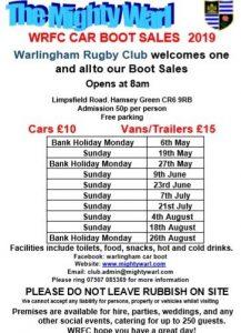 Warlingham Rugby Club Car Boot Sale @ Warlingham Rugby Club | England | United Kingdom